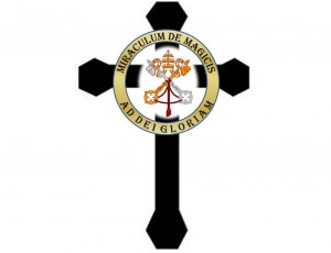 The badge of Mia's secret society of magic practitioners in Vatican City.